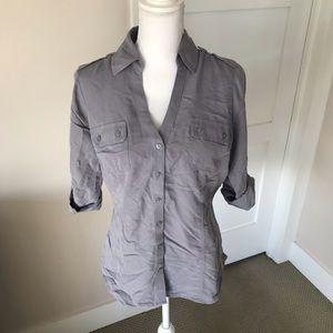 Express Portofino Button Up Shirt, M